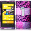 Insten - Hard Rubberized Design Cover Case For Nokia Lumia 920 - Pink Exotic
