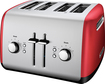 KitchenAid - 4-Slice Wide-Slot Toaster - Empire Red