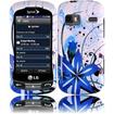 Insten - Splash Hard Case For LG Converse AN272 / Freedom UN272 / Rumor Reflex LN272 / Xpression C395 - Blue, White