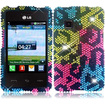 Insten - Dynamic Case for LG 840G - Colorful Leopard Diamante