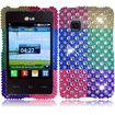 BasAcc - Diamond Case for LG 840G - Colorful Polka Diamond - Colorful Polka Diamond