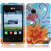 BasAcc - Diamond Case for LG 840G - Yellow Lily Diamond - Yellow Lily Diamond