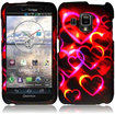 BasAcc - Hard Rubberized Design Case Cover for Pantech Perception ADR930L - Colorful Hearts - Colorful Hearts