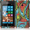 Insten - Hard Rubberized Design Case Cover for Huawei Ascend W1 H883G - Antique Swirls
