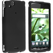 eForCity - Snap in Rubber Coated Case for Sony Ericsson Xperia Arc X12 - Black - Black