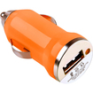 eForCity - Universal USB Mini Car Charger Auto Adapter for iPods, iPhones, Cell Phones - Orange - Orange