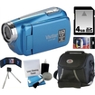 Vivitar - Bundle HD High Definition Digital Video Camcorder Blue - DVR508-BLU