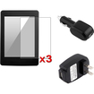 eForCity - 3-Pack Matte LCD Protector & Car Charger & Wall AC USB Charger Bundle f/ Amazon Kindle Paperwhite