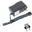 HQRP - AC Adapter for Omron HEM-737 HEM-739 BP742 HEM-7200-Z BP760 HEM-7220-Z BP785 HEM-72222-Z + Euro Plug