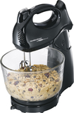 Hamilton Beach - Power Deluxe 6-Speed Stand Mixer - Black