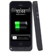 i-Blason - Apple iPhone 5S 5 PowerGlider Rechargeable External Battery Full Protection Case [iOS 7 Compatible] - Black - Black