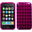 Insten - Argyle Candy Skin Case Cover for iPhone® 3GS/3G - Hot Pink Argyle Candy
