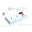 BasAcc - Dual USB port Power Strip for Cell Phone/Tablet/MP3 Player