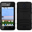 Insten - Advanced Armor Dual Layer Hybrid Stand Case Cover For Huawei Ascend Plus H881C / Valiant Y301 - Black