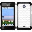Insten - TotalDefense Case Cover for Huawei H881C Ascend Plus - Black/White Luxurious Lattice