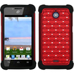 Insten - TotalDefense Case Cover for Huawei H881C Ascend Plus - Red/Black Luxurious Lattice