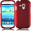 Insten - Rubberized Hard Snap in Case Cover For Samsung Galaxy S3 Mini I8190 - Red