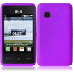 BasAcc - Soft Silicone Skin Gel Case Cover for LG 840G - Purple - Purple