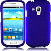 Insten - Rubberized Hard Snap in Case Cover For Samsung Galaxy S3 Mini I8190 - Blue