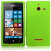 Insten - Soft Silicone Skin Rubber Case Cover for Huawei Ascend W1 H883G - Neon Green