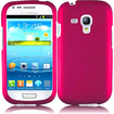 Insten - Rubberized Hard Snap in Case Cover For Samsung Galaxy S3 Mini I8190 - Pink