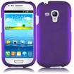 Insten - Rubberized Hard Snap in Case Cover For Samsung Galaxy S3 Mini I8190 - Purple