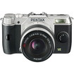 Pentax - 12.4 Megapixel Mirrorless Camera (Body with Lens Kit) - 5 mm-15 mm Lens - Silver