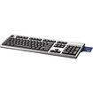 HP - USB Smart Card CCID Keyboard - Jack Black, Silver - Jack Black, Silver