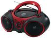 Jensen - Portable CD/CD-R/RW Player with AM/FM Radio - Black/Red - Black/Red