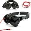 DrHotDeal - Adjustable Foldable Triangle Over-Ear Earphone Headphones for iPod iPad iPhone MP3 MP4 PC Music - Black