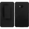 BasAcc - Rubberized Hybrid Belt Clip Holster Case For Nokia 810 Lumia - Black Hybrid