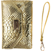 JAVOedge - Croc Clutch Wallet Case with Wristlet for the Samsung Galaxy Note 3 - Gold Crocodile