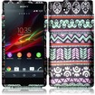 Insten - Hard Rubberized Design Cover Case For Sony Xperia Z - Elegant Aztec