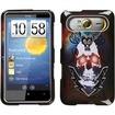 Insten - Lightning Skull Phone Case Cover for HTC HD7 HD7S