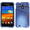 Insten - Jeans Hard Snap in Studs Case Cover For Samsung Galaxy S2 Epic 4G Touch SPH D710 (Sprint) - Blue