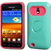 Insten - Glossy Ring Stand Case Cover For Samsung Galaxy S2 Epic 4G Touch SPH D710 (Sprint) - Hot Pink, Turquoise