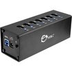 SIIG - USB 3.0 7-Port Aluminum Hub with 12V/4A Power Adapter - Black