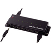 AddOn - Bulk 5 Pack Industrial Grade Rugged Mountable 7 Port USB Hub - Black - Black