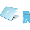 eForCity - Reversible Laptop Sleeve and Snap-in Case Bundle For MacBook Pro 13 inch - Blue