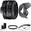 Nikon - 50mm F/1.8 D AF FS-52 Lens w/ Filter, Lens Hood & Cleaning kit