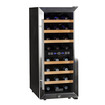 EdgeStar - 24 Bottle Free Standing Dual Zone Wine Cooler - Black