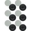 "Theater Solutions - Theater Solutions 6.5"" In Ceiling 70 Volt Speakers 6 Pair Pack 2400 Watt 6TSQ670 - white"