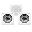 "Acoustic Audio - Acoustic Audio CS-I83S In Wall / Ceiling 8"" 3 Speaker Set 3 Way 1050W CS-I83S-3S - White"