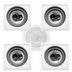 "Acoustic Audio - Acoustic Audio CS-I83S In Wall / Ceiling 8"" 5 Speaker Set 3 Way 1750W CS-I83S-5S - White"
