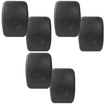 Theater Solutions - Theater Solutions Indoor Outdoor Waterproof Black Speakers 3 Pair Pack 3TS525ODB - Black