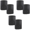 Theater Solutions - Theater Solutions Indoor Outdoor Weatherproof Black Speaker 3 Pair Pack 3TS5ODB - Black