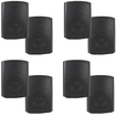Theater Solutions - Theater Solutions Indoor Outdoor Weatherproof Black Speaker 4 Pair Pack 4TS5ODB - Black