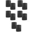 Theater Solutions - Theater Solutions Indoor Outdoor Weatherproof Black Speaker 5 Pair Pack 5TS5ODB - Black
