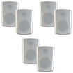 Theater Solutions - Theater Solutions Indoor Outdoor Weatherproof White Speakers 3 Pair Pack 3TS5ODW - White