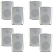 Theater Solutions - Theater Solutions Indoor Outdoor Weatherproof White Speakers 4 Pair Pack 4TS5ODW - White